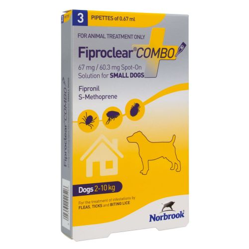 Fiproclear   Combo - For Small Dogs - 2-10kg  - 3 pack